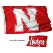 Nebraska Huskers Double Logo 3x5 Flag