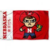 Nebraska Huskers Kawaii Tokyodachi Yuru Kyara Flag