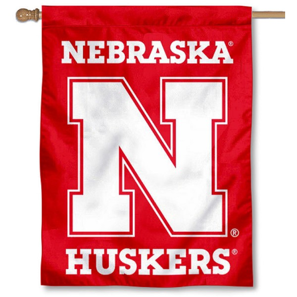 Nebraska Huskers New Logo Red House Flag is a vertical house flag which measures 30x40 inches, is made of 2 ply 100% polyester, offers screen printed NCAA team insignias, and has a top pole sleeve to hang vertically. Our Nebraska Huskers New Logo Red House Flag is officially licensed by the selected university and the NCAA.
