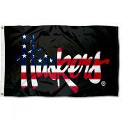 Nebraska Huskers Patriotic Flag