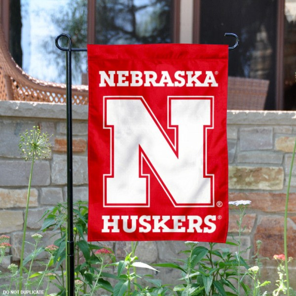 Nebraska Huskers Red N Logo Garden Flag is 13x18 inches in size, is made of 2-layer polyester, screen printed university athletic logos and lettering. Available with Same Day Express Shipping, our Nebraska Huskers Red N Logo Garden Flag is officially licensed and approved by the university and the NCAA.