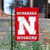 Nebraska Huskers Red N Logo Garden Flag