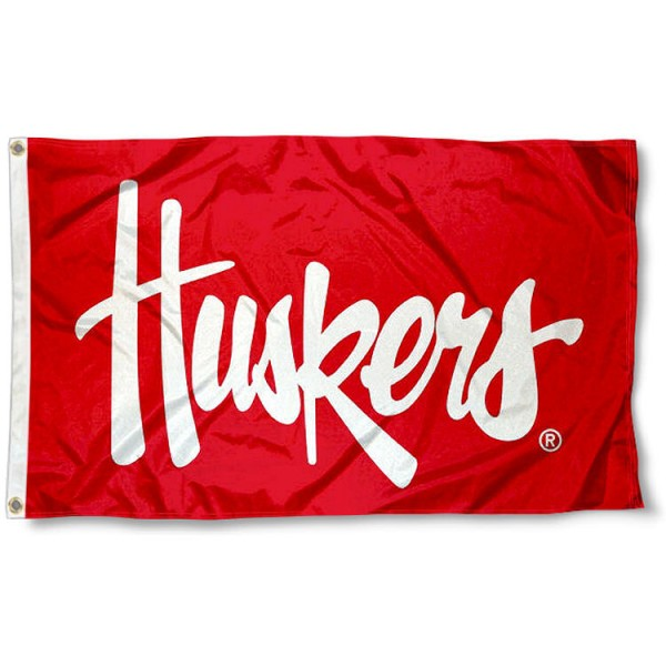 Nebraska Huskers Script Huskers Flag measures 3x5 feet, is made of 100% polyester, offers quadruple stitched flyends, has two metal grommets, and offers screen printed NCAA team logos and insignias. Our Nebraska Huskers Script Huskers Flag is officially licensed by the selected university and NCAA.