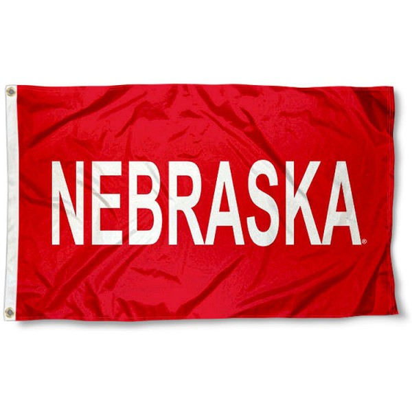 Nebraska Huskers Wordmark Flag measures 3x5 feet, is made of 100% polyester, offers quadruple stitched flyends, has two metal grommets, and offers screen printed NCAA team logos and insignias. Our Nebraska Huskers Wordmark Flag is officially licensed by the selected university and NCAA.
