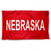 Nebraska Huskers Wordmark Flag