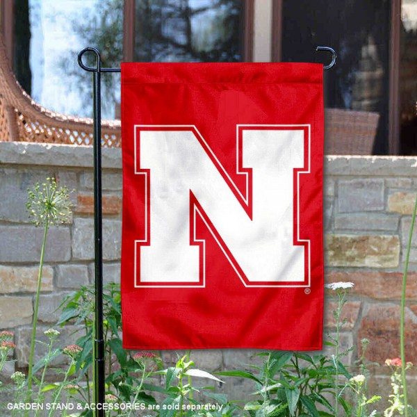 Nebraska Iron N Logo Garden Flag is 13x18 inches in size, is made of 2-layer polyester, screen printed Nebraska Iron N athletic logos and lettering. Available with Same Day Express Shipping, Our Nebraska Iron N Logo Garden Flag is officially licensed and approved by Nebraska Iron N and the NCAA.