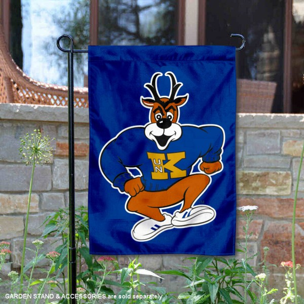 Nebraska Kearney Lopers Louie the Loper Garden Flag is 13x18 inches in size, is made of 2-layer polyester, screen printed university athletic logos and lettering, and is readable and viewable correctly on both sides. Available same day shipping, our Nebraska Kearney Lopers Louie the Loper Garden Flag is officially licensed and approved by the university and the NCAA.