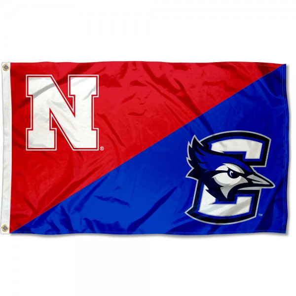 Nebraska vs. Creighton House Divided 3x5 Flag sizes at 3x5 feet, is made of 100% polyester, has quadruple-stitched fly ends, and the university logos are screen printed into the Nebraska vs. Creighton House Divided 3x5 Flag. The Nebraska vs. Creighton House Divided 3x5 Flag is approved by the NCAA and the selected universities.