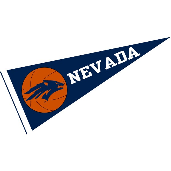 Nevada Wolfpack Basketball Pennant consists of our full size sports pennant which measures 12x30 inches, is constructed of felt, is single sided imprinted, and offers a pennant sleeve for insertion of a pennant stick, if desired. This Nevada Wolfpack Pennant Decorations is Officially Licensed by the selected university and the NCAA.