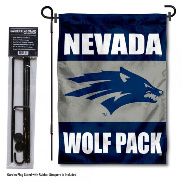 Nevada Wolfpack Garden Flag and Pole Stand