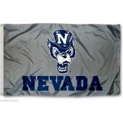 Nevada Wolfpack Silver Wolf Flag