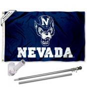 Nevada Wolfpack Wolf Flag Pole and Bracket Kit