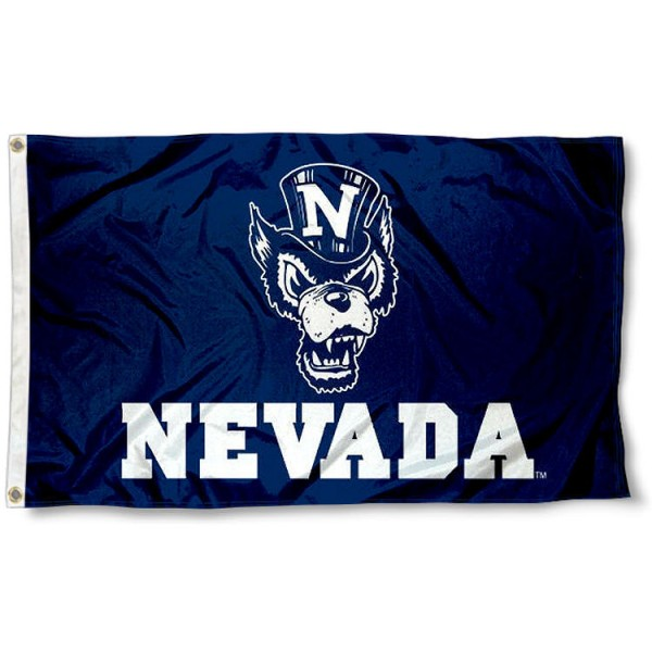 Nevada Wolfpack Wolf Logo Flag measures 3x5 feet, is made of 100% polyester, offers quadruple stitched flyends, has two metal grommets, and offers screen printed NCAA team logos and insignias. Our Nevada Wolfpack Wolf Logo Flag is officially licensed by the selected university and NCAA.