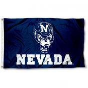 Nevada Wolfpack Wolf Logo Flag