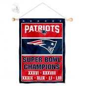 New England Patriots 6 Time Champions Window and Wall Banner