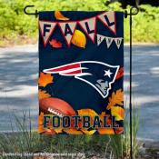 New England Patriots Fall Football Leaves Decorative Double Sided Garden Flag