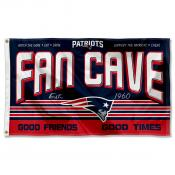 New England Patriots Fan Cave Flag Large Banner