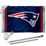 New England Patriots Flag Pole and Bracket Kit