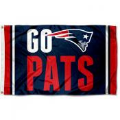 New England Patriots Go Pats Flag