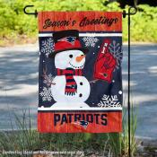 New England Patriots Holiday Winter Snow Double Sided Garden Flag