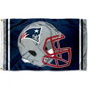 New England Patriots New Helmet Flag