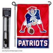 New England Patriots Retro Logo Garden Flag and Stand