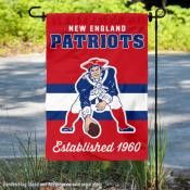 New England Patriots Throwback Logo Double Sided Garden Flag Flag
