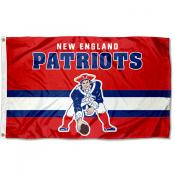 New England Patriots Throwback Retro Vintage Logo Flag