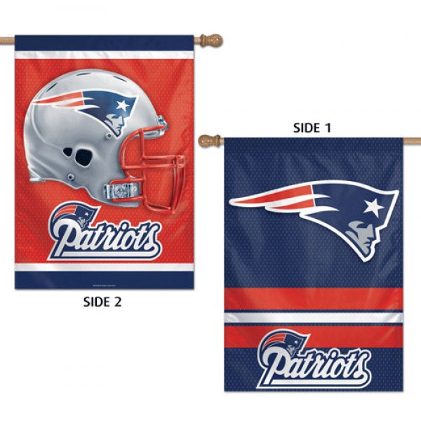 New England Patriots Two Sided House Banner is imprinted with Helmet and Team Logos for the New England Patriots and is made of 100% polyester. Our Banner Flags for New England Patriots measure 28x40 inches and hang vertically for a top pole sleeve.
