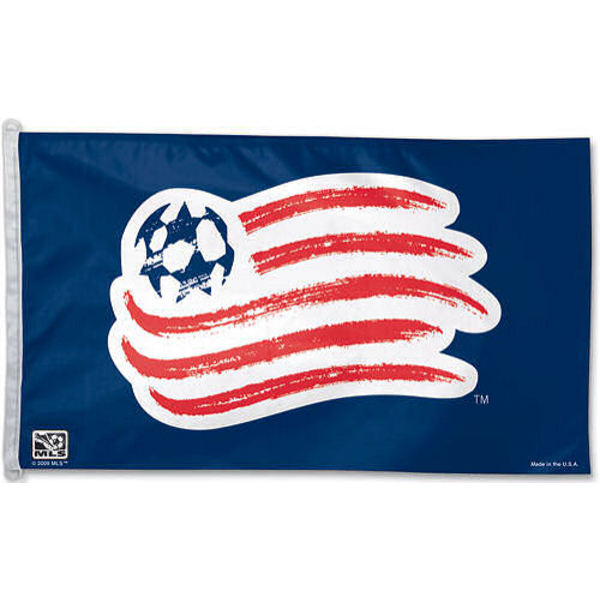 New England Revolution Flag measures 3x5 feet and offers New England Revolution logos. New England Revolution Flag is made of polyester, has two metal grommets, and is viewable from both sides with the opposite side being a reverse image. This New England Revolution Flag is Officially Licensed by the New England Revolution and the MLS.