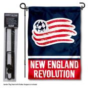New England Revolution Garden Flag and Flagpole Stand