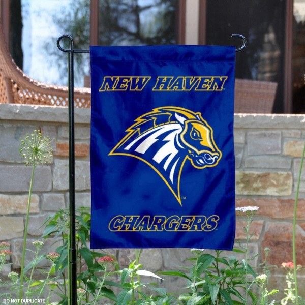 New Haven Chargers Logo Garden Flag is 13x18 inches in size, is made of 2-layer polyester with liner, screen printed athletic logos and lettering. Available with Same Day Overnight Express Shipping, Our New Haven Chargers Logo Garden Flag is officially licensed and approved by the university, college and the NCAA.