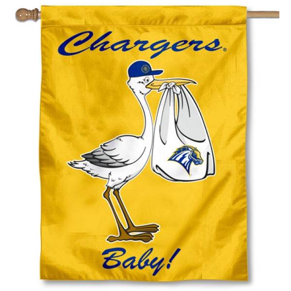 New Haven Chargers New Baby Flag measures 30x40 inches, is made of poly, has a top hanging sleeve, and offers dye sublimated New Haven Chargers logos. This Decorative New Haven Chargers New Baby House Flag is officially licensed by the NCAA.