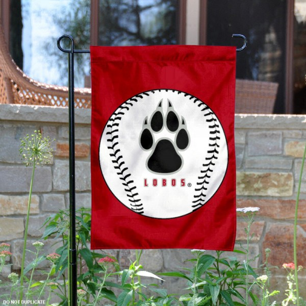 New Mexico Lobos Baseball Garden Flag is 13x18 inches in size, is made of 2-layer polyester, screen printed New Mexico Lobos Baseball athletic logos and lettering. Available with Express Shipping, Our New Mexico Lobos Baseball Garden Flag is officially licensed and approved by New Mexico Lobos Baseball and the NCAA.