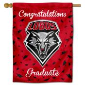 New Mexico Lobos Congratulations Graduate Flag