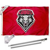 New Mexico Lobos Flag Pole and Bracket Kit
