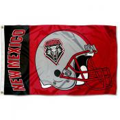 New Mexico Lobos Football Helmet Flag