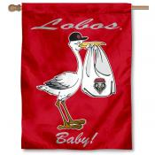 New Mexico Lobos New Baby Flag