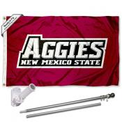 New Mexico State Aggies Flag Pole and Bracket Kit
