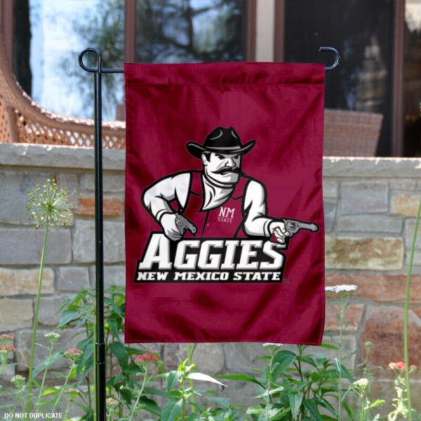 New Mexico State University Garden Flag is 13x18 inches in size, is made of 2-layer polyester, screen printed New Mexico State University athletic logos and lettering. Available with Same Day Express Shipping, Our New Mexico State University Garden Flag is officially licensed and approved by New Mexico State University and the NCAA.