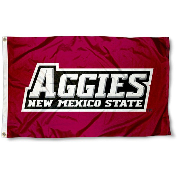 New Mexico State University Polyester Flag measures 3'x5', is made of 100% poly, has quadruple stitched sewing, two metal grommets, and has double sided New Mexico State University logos. Our New Mexico State University Polyester Flag is officially licensed by the selected university and the NCAA