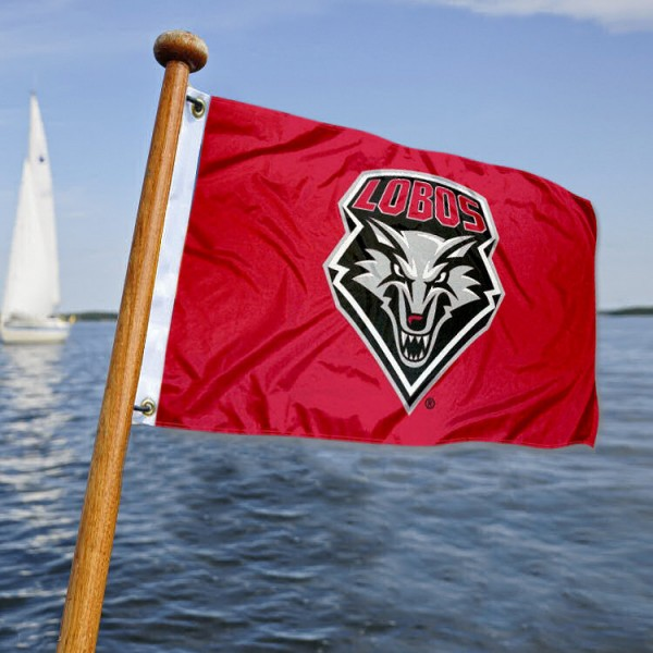 New Mexico UNM Lobos Yacht Flag measures 12x18 inches, is made of two-ply polyesters, offers quadruple stitched flyends for durability, has two metal grommets, and is viewable from both sides. Our New Mexico UNM Lobos Yacht Flag is officially licensed by the selected university and the NCAA and can be used as a motorcycle flag, golf cart flag, or ATV flag.