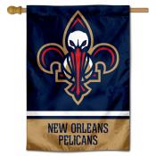 New Orleans Pelicans Logo Double Sided House Flag