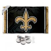 New Orleans Saints Banner Flag with Tack Wall Pads