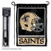 New Orleans Saints Helmet Garden Banner and Flag Stand
