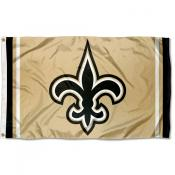 New Orleans Saints Old Gold Logo Flag
