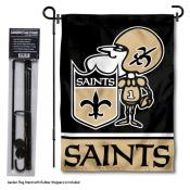 New Orleans Saints Sir Saint Garden Banner and Flag Stand