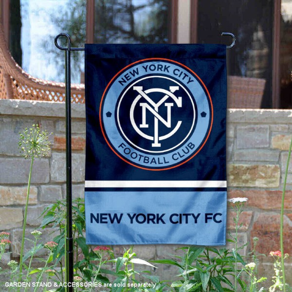 New York City Football Club Garden Flag And Double Two Sided Garden Banners