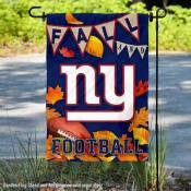 New York Giants Fall Football Leaves Decorative Double Sided Garden Flag