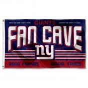 New York Giants Fan Cave Flag Large Banner